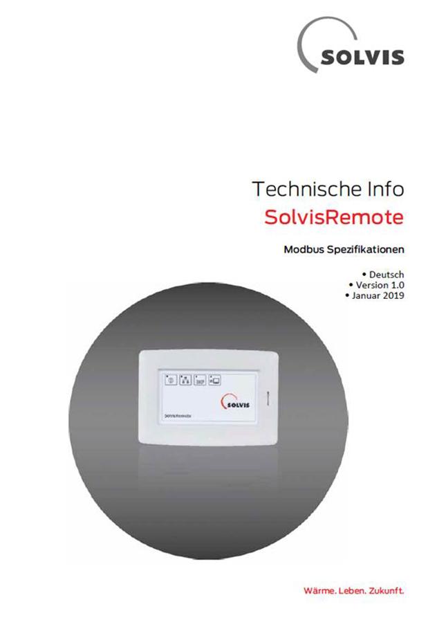 SolvisRemote Modbus Spezifikation